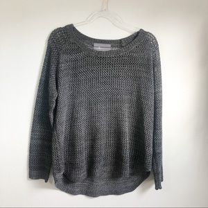 Anthropologie | Paper Crane Marled Grey Sweater